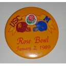1989 Rose bowl pin.  USC-Michigan