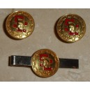 Antique Tie clasp and Cuff links with Tommy Trojan