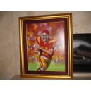 Matt Leinart signed limited edition canvas print.