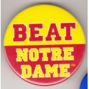 Beat Notre Dame pin
