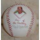 "Rod Dedeaux signed ""Coach of the Century"" baseball."
