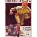 1932 USC vs. Notre Dame program.