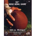 2007 Rose Bowl program USC vs. Michigan