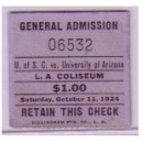 1924 USC vs. Arizona ticket stub.