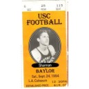 1994 USC vs. Baylor ticket stub.