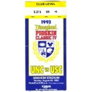 1993 USC vs. North Carolina Pigskin Classic ticket stub.