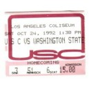 1992 USC vs. Washington State ticket stub.