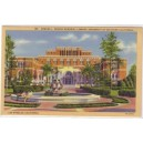 Postcard Doheny Memorial Library USC color Linen