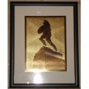 Framed gold etchings Tommy Trojan, Mudd Hall