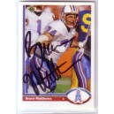 Bruce Matthews - Autographed trading card.