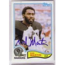Rod Martin- Autographed trading card.