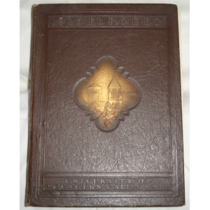 1925 El Rodeo USC yearbook.  Brown Cover