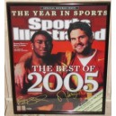 Reggie Bush and Matt Leinart signed picture of SI cover