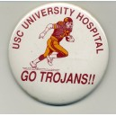 USC University hospital Go Trojans pin.
