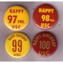 Happy 97, 98, 99, 100th birthday USC pin lot