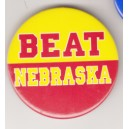 Beat Nebraska pin