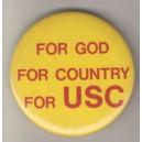 For God, For Country, For USC pin