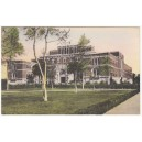 Postcard Doheny Memorial Library USC early color