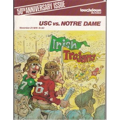 1976 USC vs. ND game program.