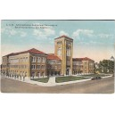 Postcard Bovard Administration USC early color