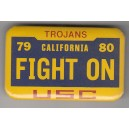 Fight On! License plate pin.