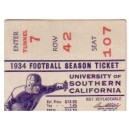 1934 Season Ticket stub.