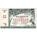 1948 USC vs. Rice University ticket stub