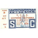 1947 USC vs. UCLA ticket stub.