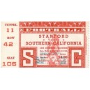 1947 USC vs. Stanford ticket stub 2