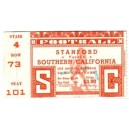 1947 USC vs. Stanford ticket stub