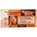 1960 USC vs. Texas Christian ticket stub