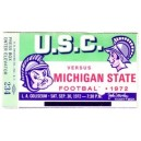 1972 USC vs. Michigan State ticket stub.