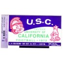 1972 USC vs. California ticket stub.