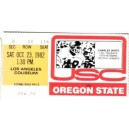 1982 USC vs. Oregon State ticket stub