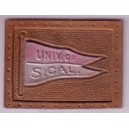Univ. of S. Cal leather tobacco pennant.