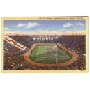 Postcard Los Angeles Coliseum color linen