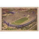 Postcard Los Angeles Coliseum white border color