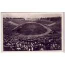 Postcard Los Angeles Coliseum B/W photo