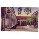 Postcard Mudd Hall of Philosophy courtyard USC early color