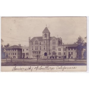 Postcard Old College USC B/W photo