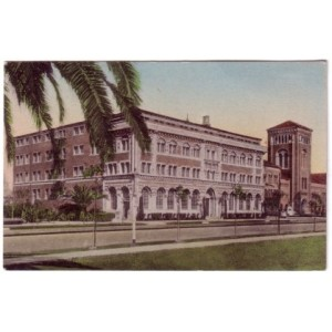 Postcard Student Union USC early color