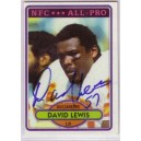 David Lewis - Autographed trading card.