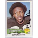 Clarence Davis - autographed trading card