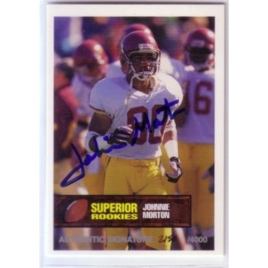 Johnnie Morton autographed trading card