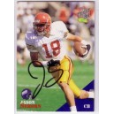 Jason Sehorn autographed trading card.