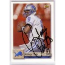 Rodney Peete autographed trading card